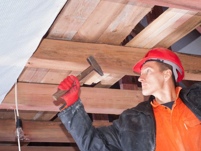 Roofer Working in the Lower Vancouver Island